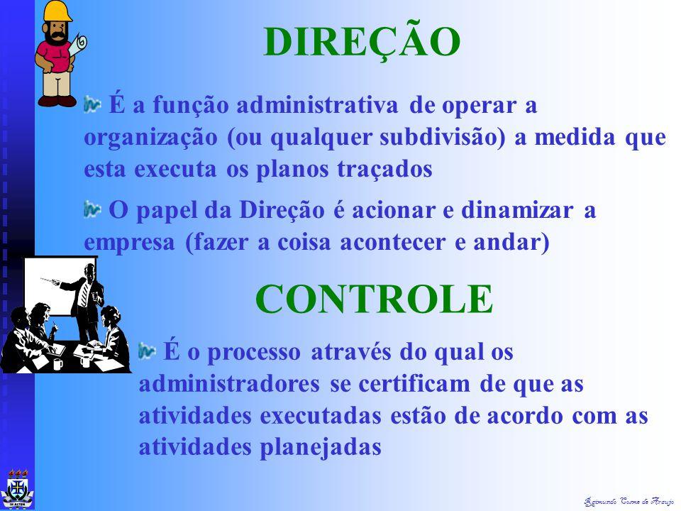 Raimundo Cosme de Araujo PLANEJAMENTO Determinar antecipadamente quais os objetivos que devem ser alcançados e como se deve fazer para alcança-los. OR