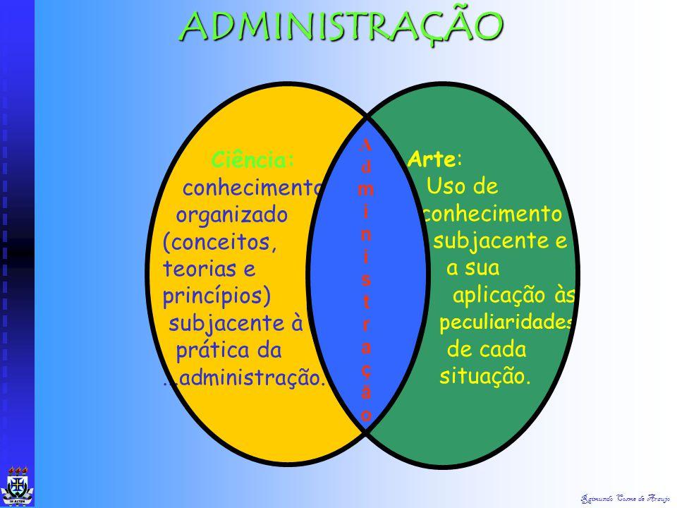 Raimundo Cosme de Araujo Organização Informal : Surge espontânea e naturalmente entre as pessoas que ocupam posições na organização formal. As pessoas