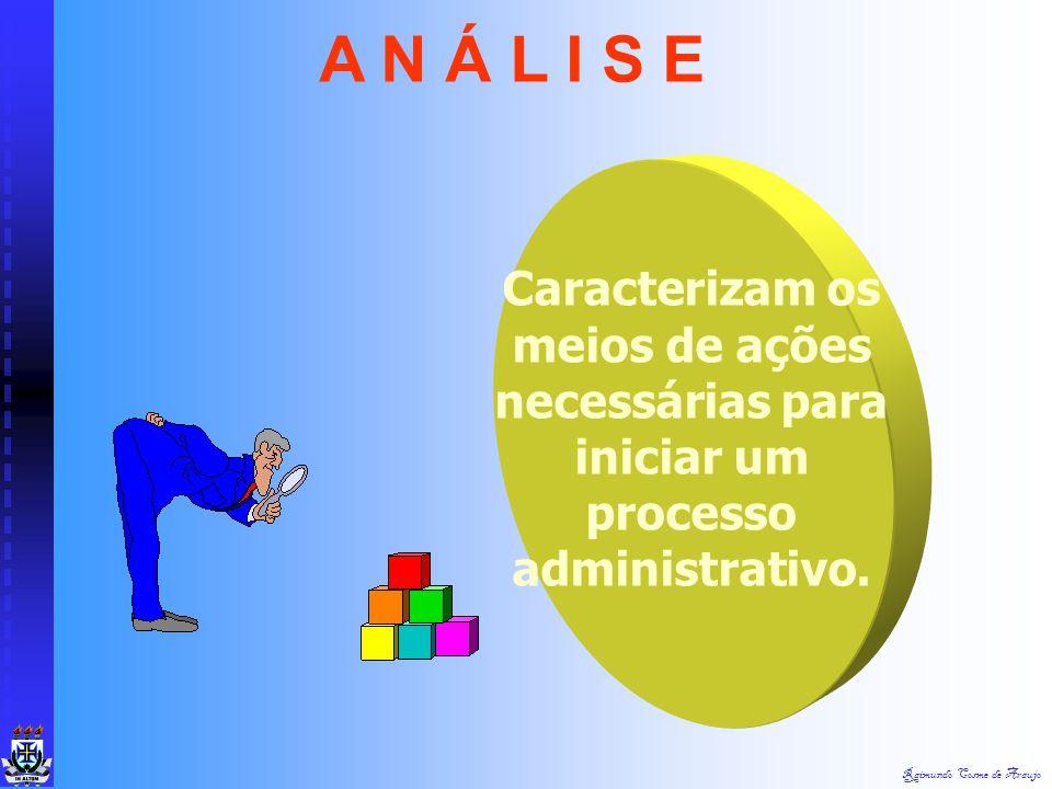 Raimundo Cosme de Araujo ANÁLISE IMPLANTAÇÃO CONTROLE PRINCIPIOS ADMINISTRATIVOS PLANEJAMENTO