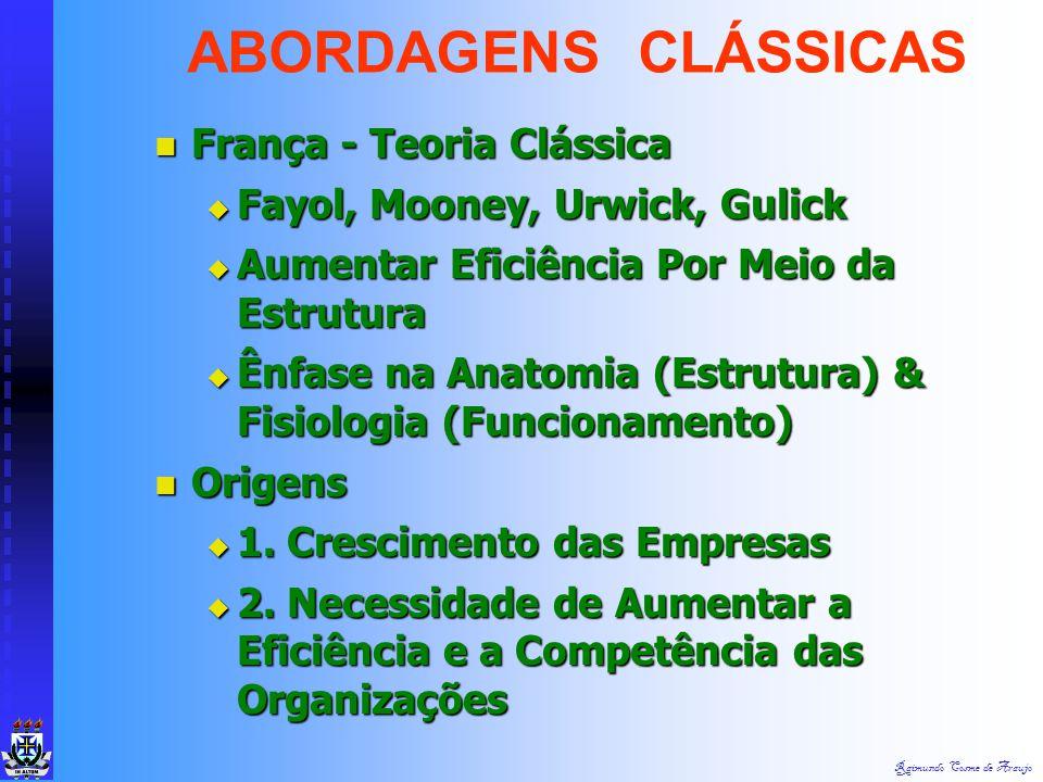Raimundo Cosme de Araujo Estados Unidos - Escola da Adm Científica Estados Unidos - Escola da Adm Científica  Taylor, Gantt, Gilbreth, Emerson, Ford