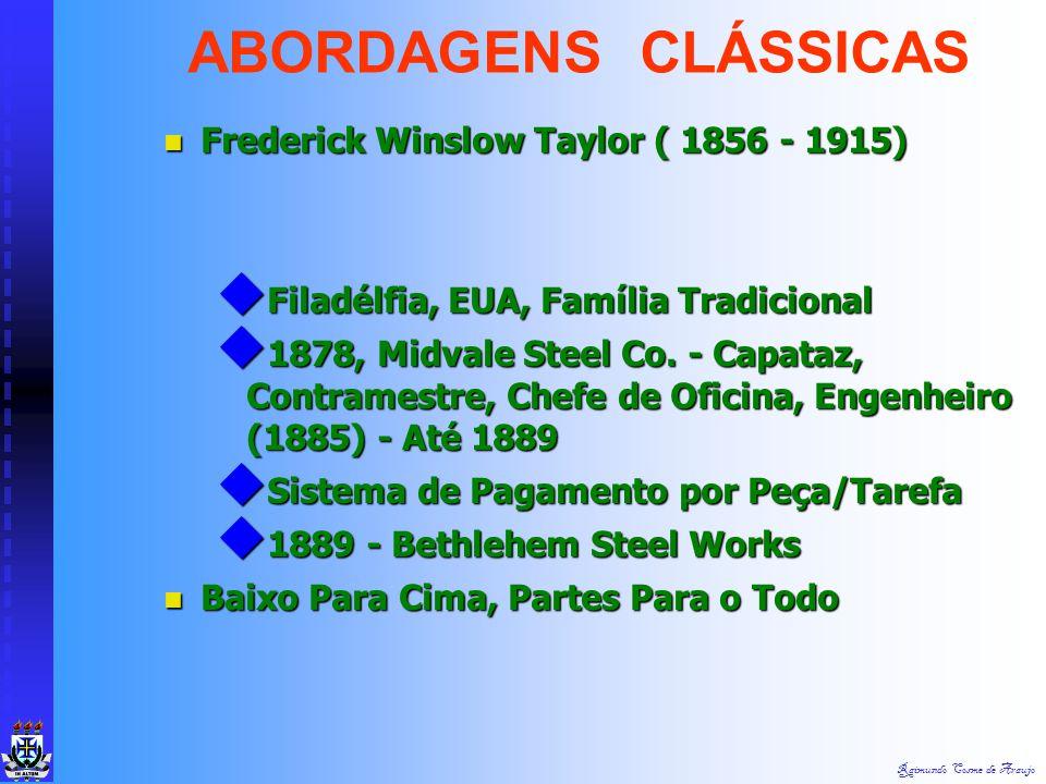 Raimundo Cosme de Araujo França - Teoria Clássica França - Teoria Clássica  Fayol, Mooney, Urwick, Gulick  Aumentar Eficiência Por Meio da Estrutura