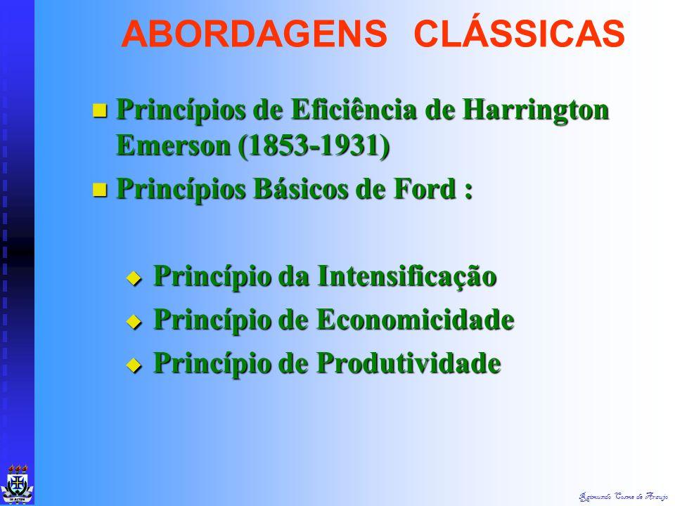 Raimundo Cosme de Araujo Princípios da Adm. Científica de Taylor : Princípios da Adm. Científica de Taylor :  Princípio do Planejamento  Princípio d