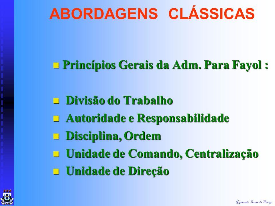 Raimundo Cosme de Araujo Seis Funções Básicas da Empresa : Seis Funções Básicas da Empresa : Técnica - Produção de Bens/Serviços Técnica - Produção de