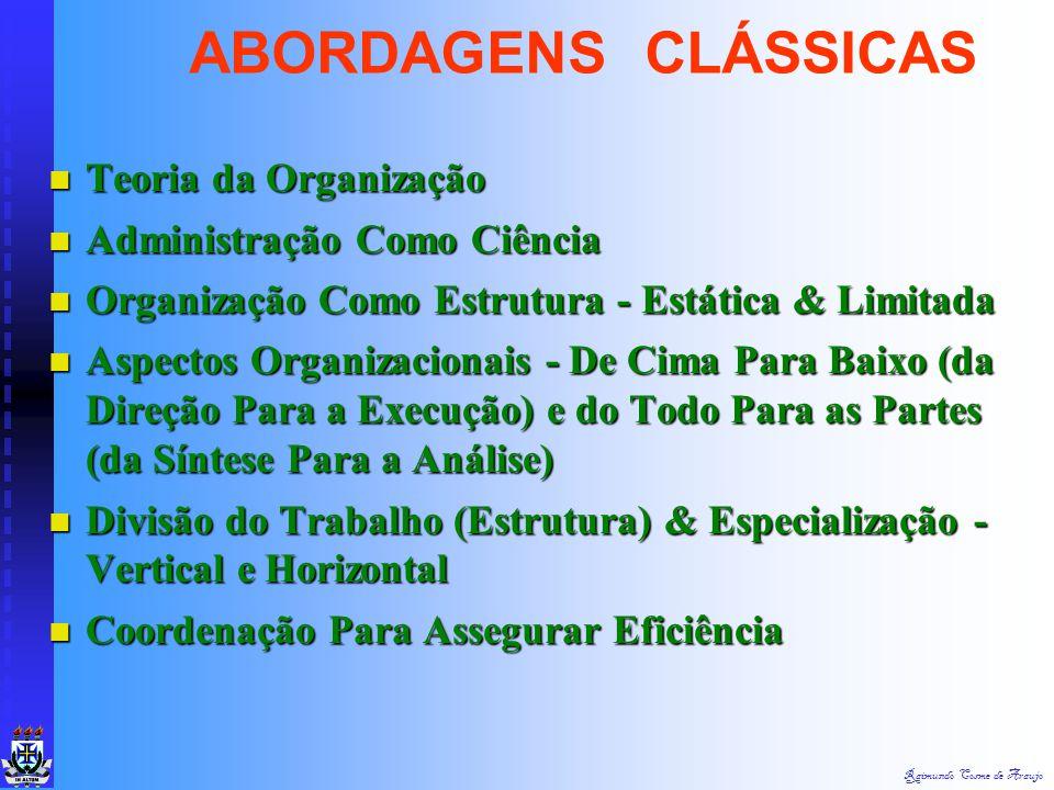 Raimundo Cosme de Araujo Subordinação dos Interesses Individuais aos Interesses Gerais Subordinação dos Interesses Individuais aos Interesses Gerais R