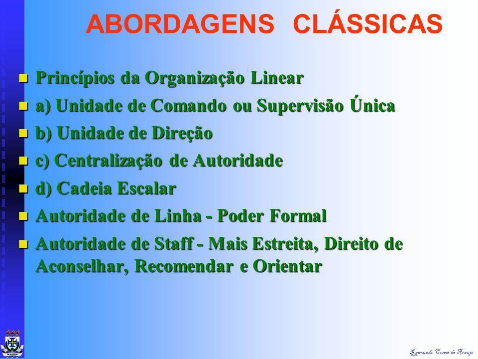 Raimundo Cosme de Araujo Teoria da Organização Teoria da Organização Administração Como Ciência Administração Como Ciência Organização Como Estrutura