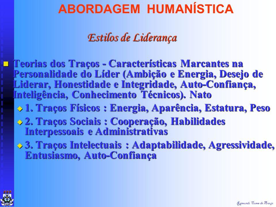 Raimundo Cosme de Araujo ABORDAGEM HUMANÍSTICA Liderança envolve outras pessoas & poder Liderança envolve outras pessoas & poder Poder - A Capacidade