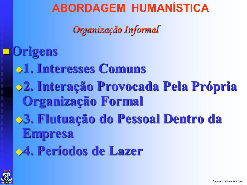 Raimundo Cosme de Araujo ABORDAGEM HUMANÍSTICA Conceito : Conjunto de Interações e de Conceito : Conjunto de Interações e de Relacionamento que se Est