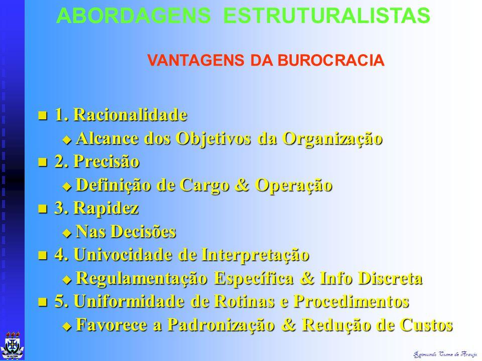 Raimundo Cosme de Araujo ABORDAGENS ESTRUTURALISTAS