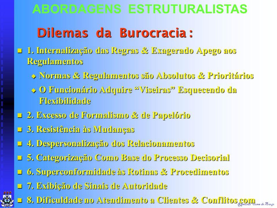 Raimundo Cosme de Araujo ABORDAGENS ESTRUTURALISTAS 6. Continuidade 6. Continuidade  Seleção & Escolha de Pessoal Baseados na Capacidade & Competênci