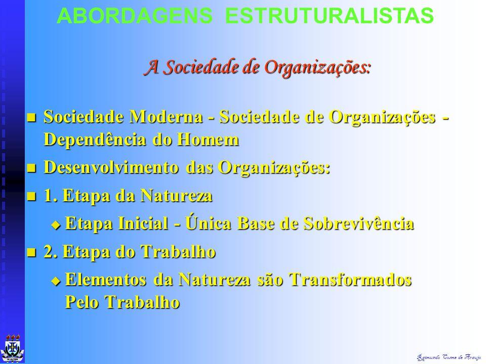 Raimundo Cosme de Araujo ABORDAGENS ESTRUTURALISTAS  Novo Conceito de Estrutura  Conjunto Formal de Dois ou Mais Elementos e Que Subsiste Inalterado