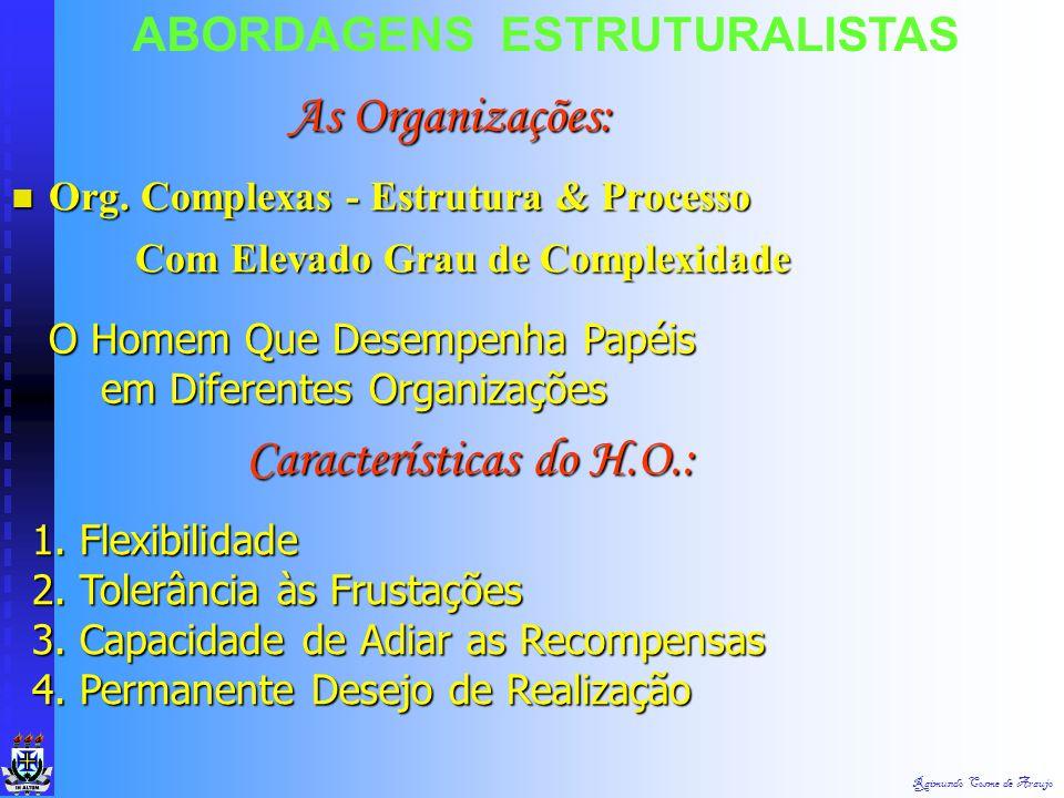 Raimundo Cosme de Araujo ABORDAGENS ESTRUTURALISTAS São Concebidas Como Unidades Sociais Intencionalmente Construídas & Reconstruídas, afim de Atingir