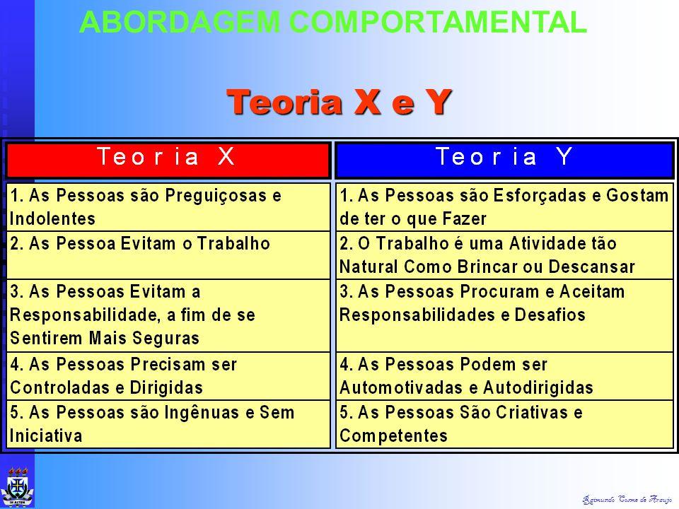 Raimundo Cosme de Araujo ABORDAGEM COMPORTAMENTAL Teoria dos Dois Fatores de Herzberg