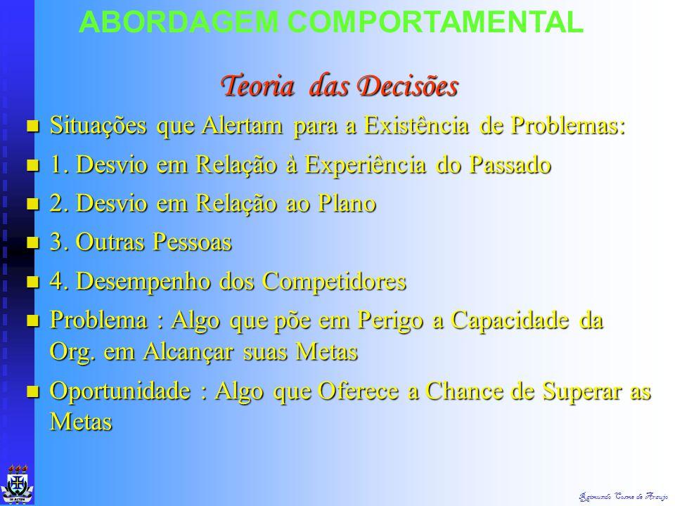 Raimundo Cosme de Araujo ABORDAGEM COMPORTAMENTAL Teoria X e Y