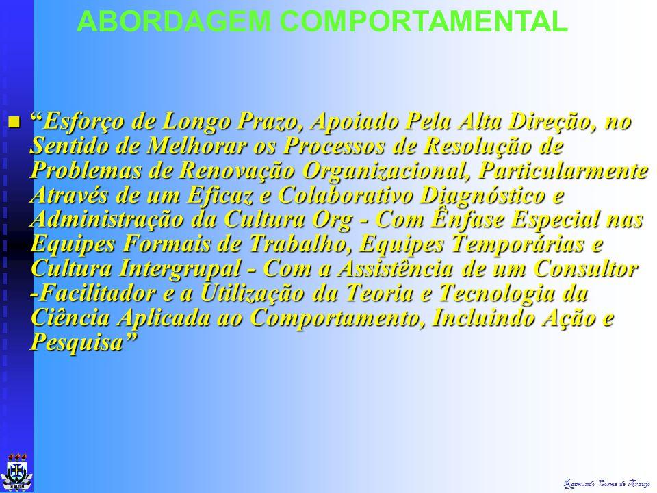 Raimundo Cosme de Araujo Novos Conceitos : Novos Conceitos :  5. Fases da Organização :  Fase 1 - Fase Pioneira  Fase 2 - Fase de Expnasão  Fase 3