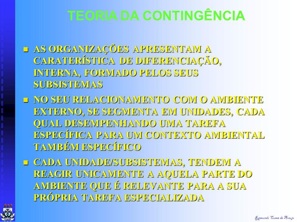 Raimundo Cosme de Araujo CONSIDERARAM O AMBIENTE GERAL ATRAVÉS DE TRÊS SETORES DE MERCADO (AMBIENTES ESPECÍFICOS): AMBIENTE MERCADOLÓGICO, AMBIENTE TÉ