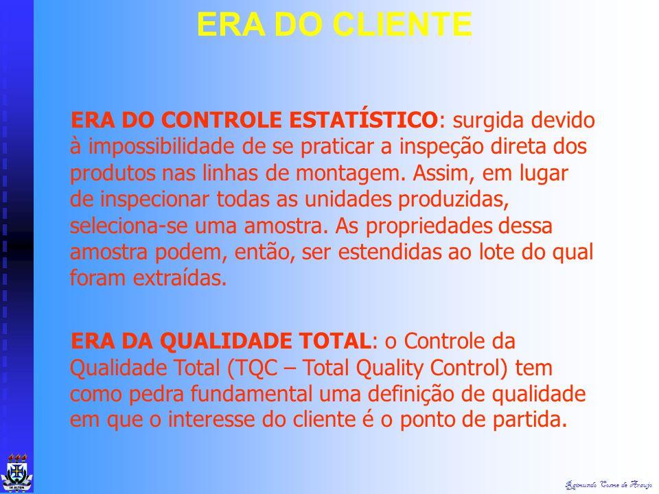 Raimundo Cosme de Araujo O cliente em primeiro lugar é a base da filosofia da Qualidade Total. A história da evolução que transformou o controle tradi
