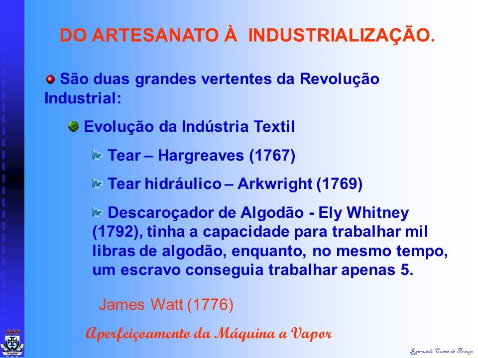 Raimundo Cosme de Araujo 2ª ETAPA: FASE DO ARTESANATO À INDUSTRIALIZAÇÃO VAI DA 1ª REVOLUÇÃO INDUSTRIAL (1780 A 1860) TENDO COMO A ECONOMIA DOMINANTE
