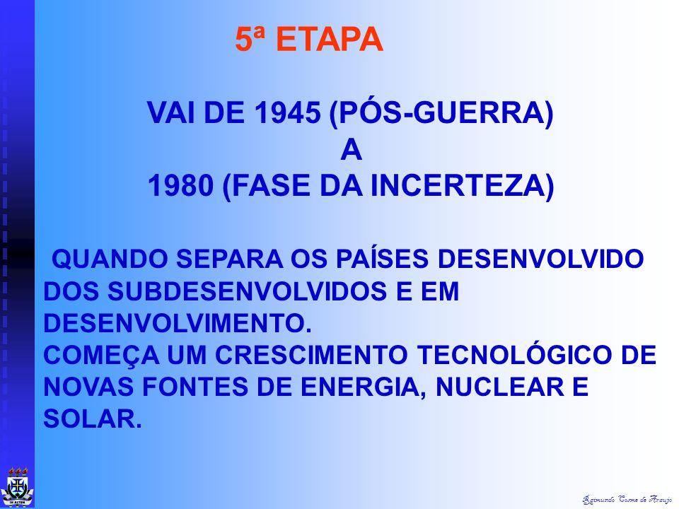 Raimundo Cosme de Araujo FASE DO GIGANTISTMO INDUSTRIAL ( 1914 A 1945) NO QUAL SE UTILIZOU A ORGANIZAÇÃO E A TECNOLOGIA BÉLICA. DAÍ NASCE A CRISE MUND