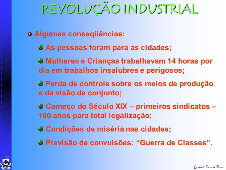 Raimundo Cosme de Araujo FASE DA INCERTEZA PÓS 1980 ATÉ HOJE MARCADA PELA REVOLUÇÃO DOS COMPUTADORES SUBSTITUINDO OS MÚSCULOS E O CÉREBRO HUMANO PELOS