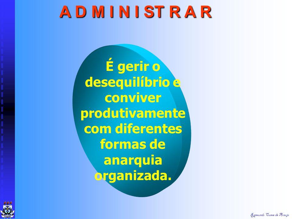 Raimundo Cosme de Araujo a) É gerenciar através de pessoas; b) É provir para prover; c) É fazer as coisas através de pessoas; d) É prever, organizar,