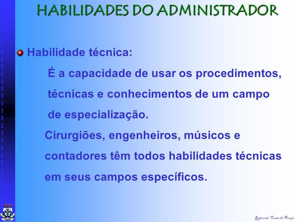 Raimundo Cosme de Araujo FUNÇÃO DO ADMINISTRADOR FUNÇÃO DO ADMINISTRADOR Mantém a empresa em plena capacidade operacional garantindo o abastecimento d