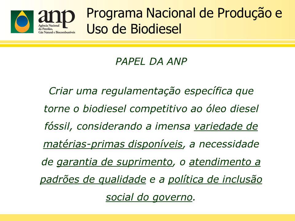 Buscou aproximar produtores e consumidores do produto na fase inicial do PNPB, por meio de leilões públicos, nos quais o Governo Federal – via ANP e Petrobras/Refap – adquiriram certa quantidade do produto para mistura no diesel vendido no mercado nacional Leilões Públicos