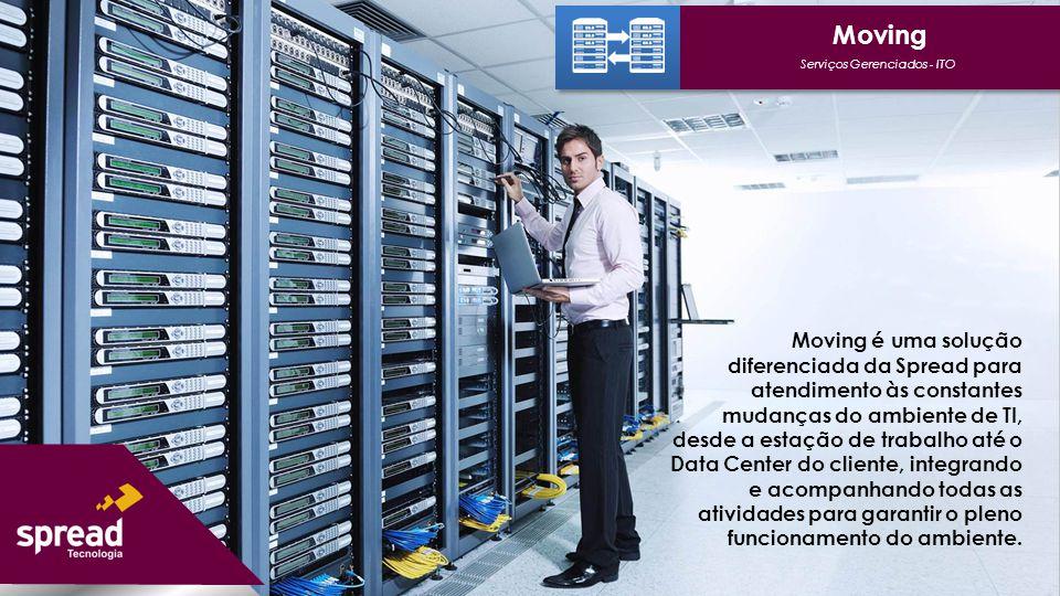 Moving é uma solução diferenciada da Spread para atendimento às constantes mudanças do ambiente de TI, desde a estação de trabalho até o Data Center d