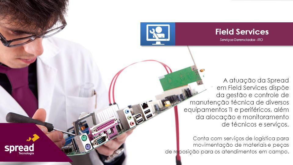Serviços Gerenciados - ITO Field Services Suporte em desktops, notebooks, thin clients, impressoras fiscais, pin pads, mini smarts, hubs, roteadores, displays e demais periféricos.