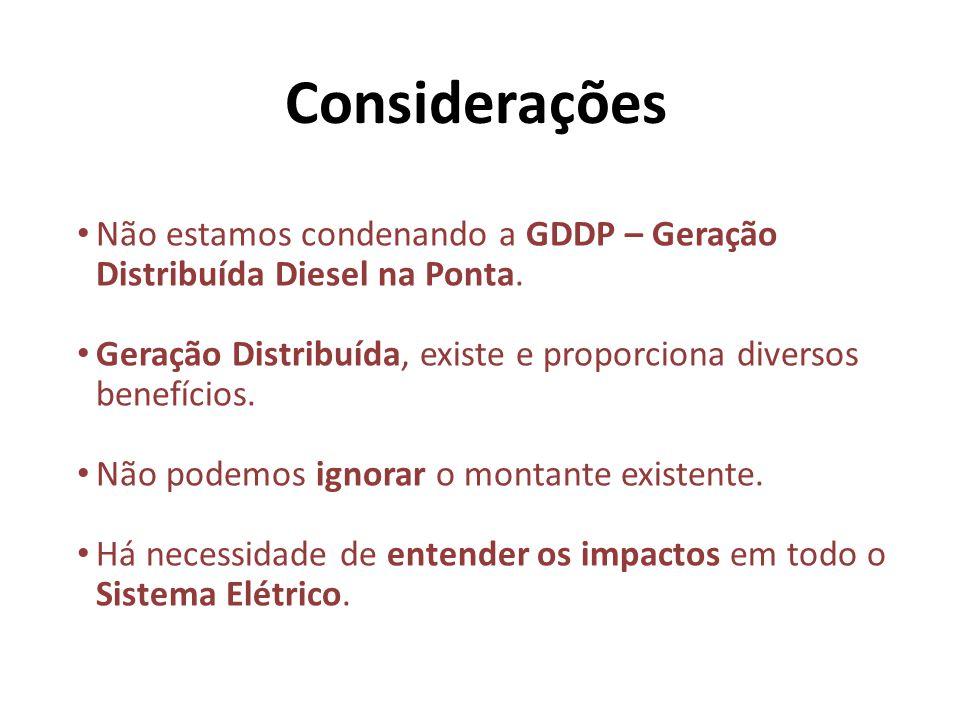 Não estamos condenando a GDDP – Geração Distribuída Diesel na Ponta.