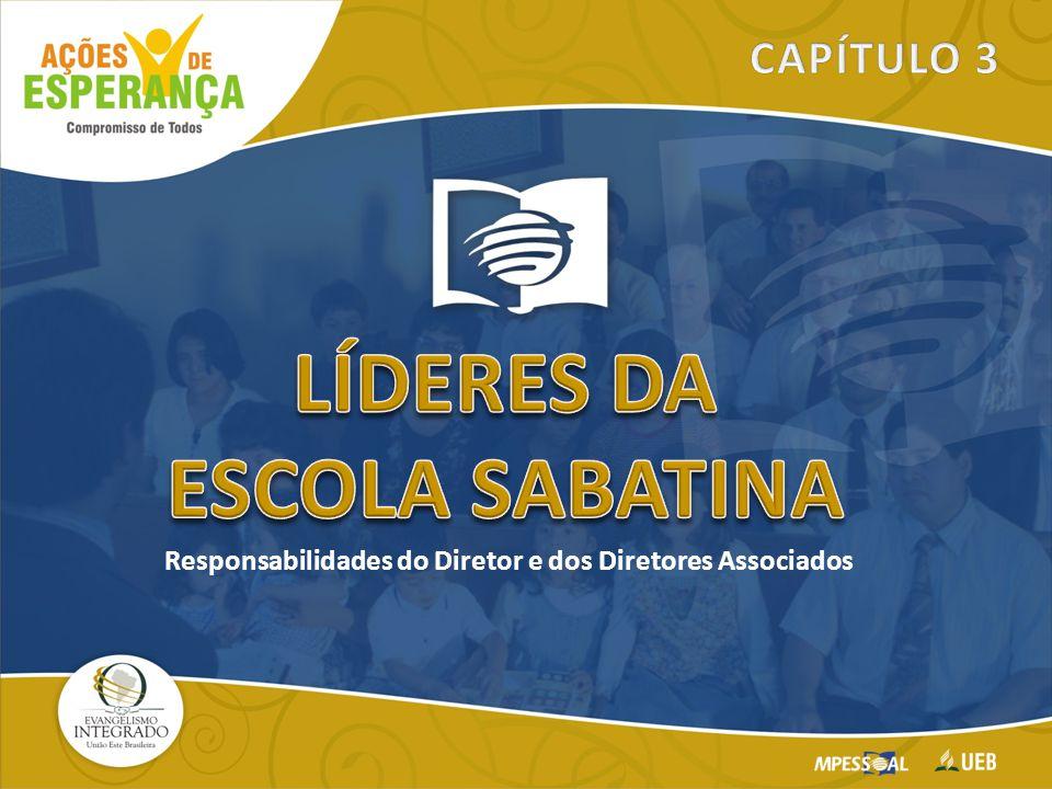 Seu trabalho é ver que os alvos e objetivos da Escola Sabatina estejam implementados em todas as divisões e atividades DIRETOR – SUA FUNÇÃO O Diretor Geral é o Coordenador da Escola Sabatina.
