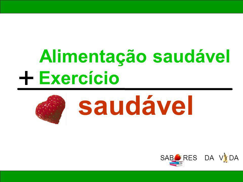 Alimentação saudável Exercício saudável + SAB RES DA V DA