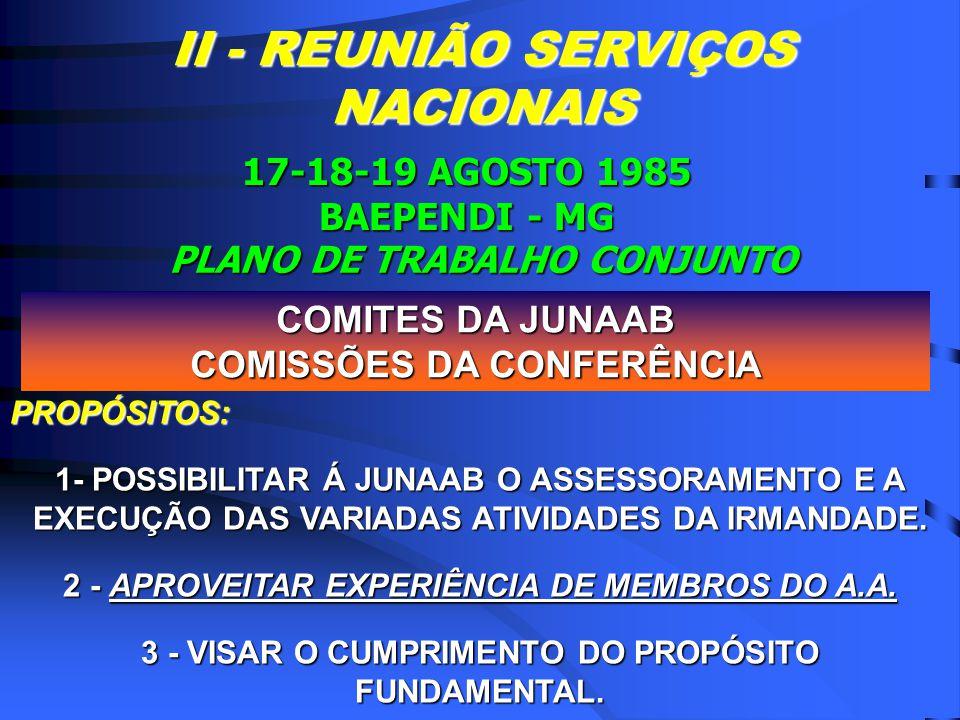 OBJETIVOS DE BAEPENDI 1 - REAL CONHECIMENTO DO QUE PENSA A COMUNIDADE.
