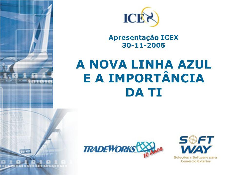Apresentação ICEX 30-11-2005 A NOVA LINHA AZUL E A IMPORTÂNCIA DA TI
