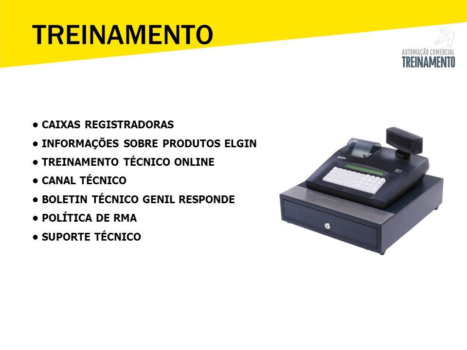 Tecla: I = Mostra a versão do Aplicativo T= Mostra o relógio U= Impressão de relatórios (Leitura X, MF data, MF CRZ, MFD) [LOGIN] [ELGIN S/A 1.04P] Operador: Senha: PDV FX7 – Teclas de Atalho M.Livre: 99,95% Bateria: OK Max.Itens:8200 Itens.