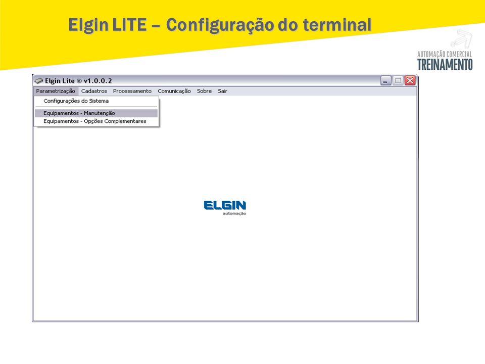 Elgin LITE – Configuração do terminal