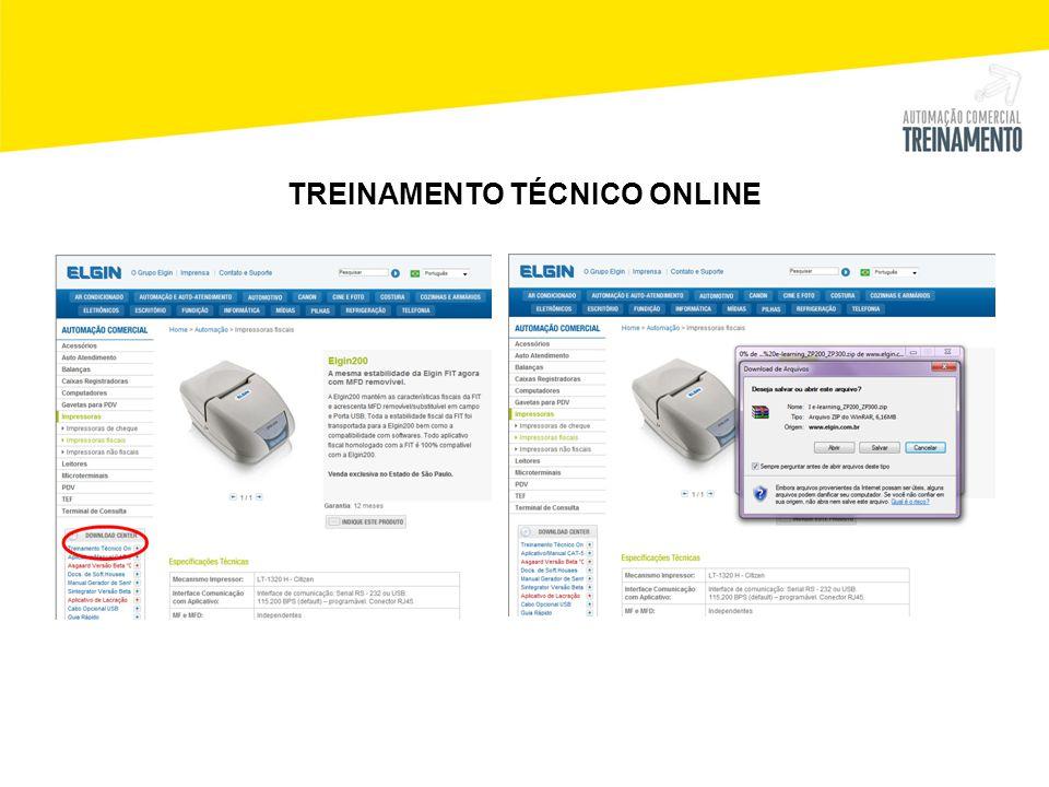 TREINAMENTO TÉCNICO ONLINE