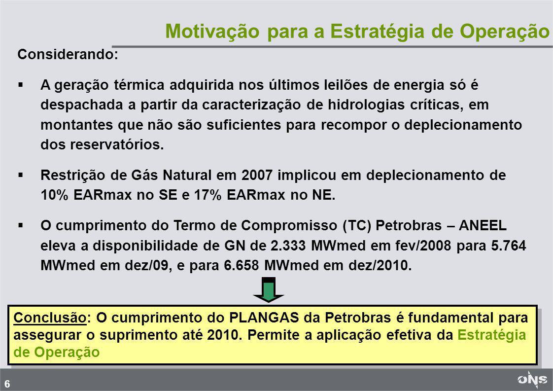 17 Perturbações Ocorridas no Suprimento a Alagoas