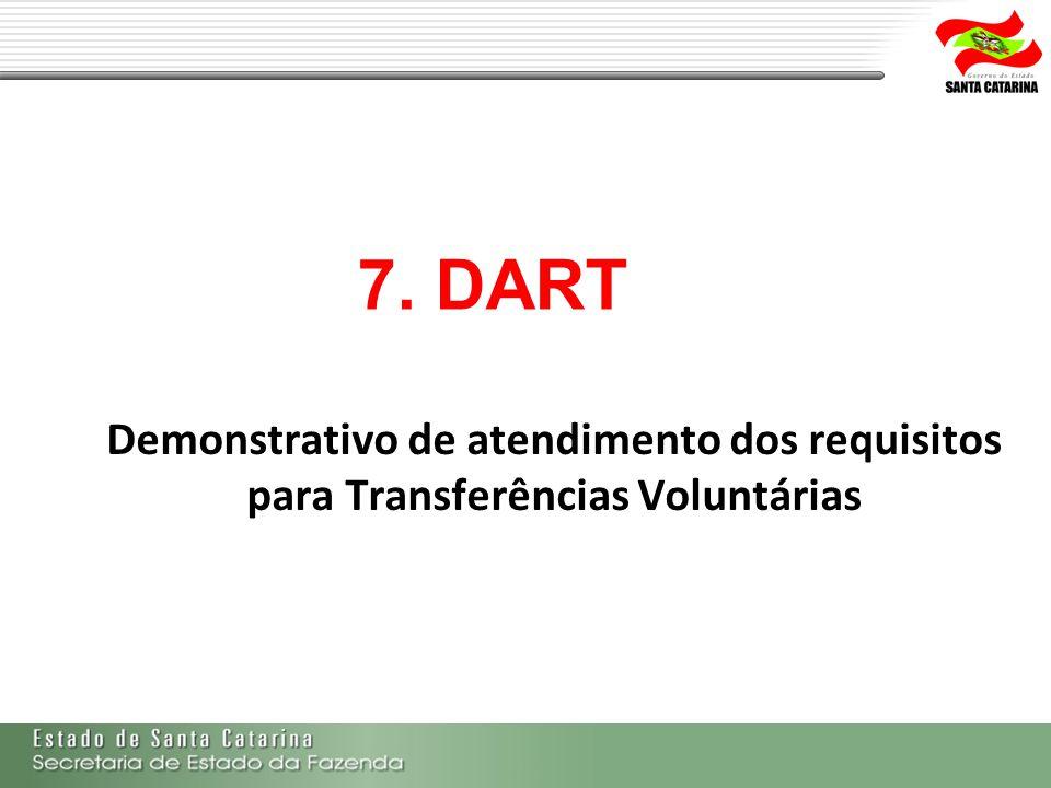 7. DART Demonstrativo de atendimento dos requisitos para Transferências Voluntárias