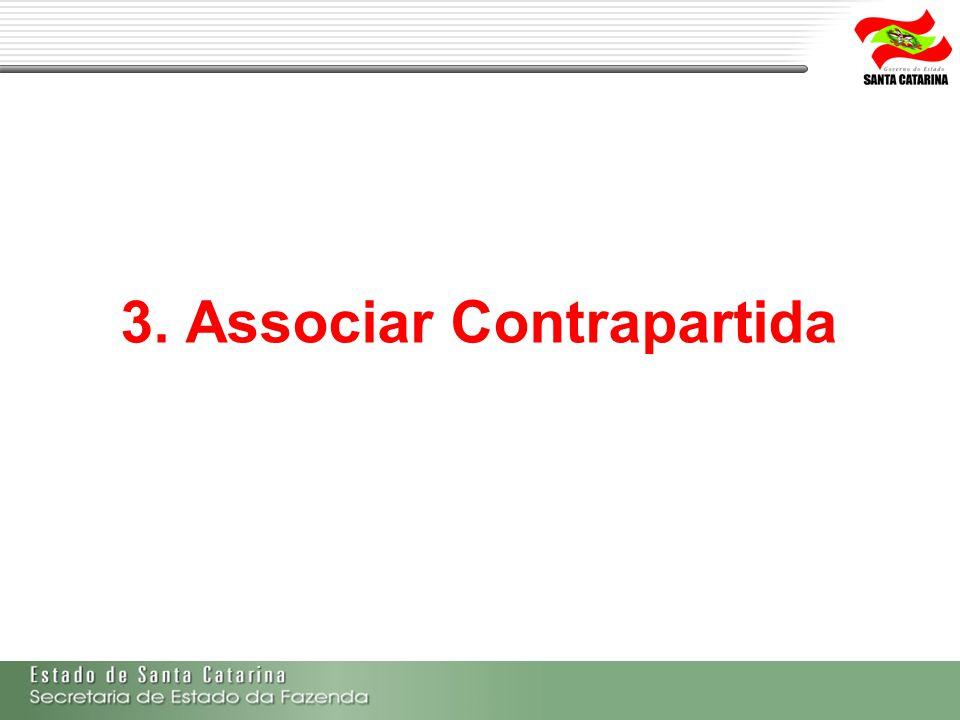 3. Associar Contrapartida