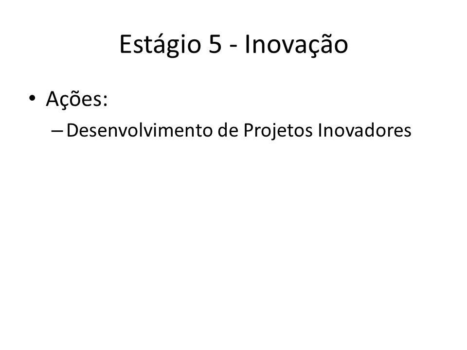 Estágio 5 - Inovação Ações: – Desenvolvimento de Projetos Inovadores