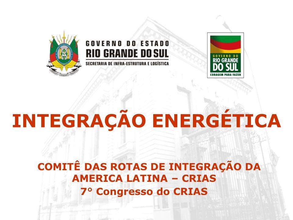 INTEGRAÇÃO ENERGÉTICA COMITÊ DAS ROTAS DE INTEGRAÇÃO DA AMERICA LATINA – CRIAS 7° Congresso do CRIAS