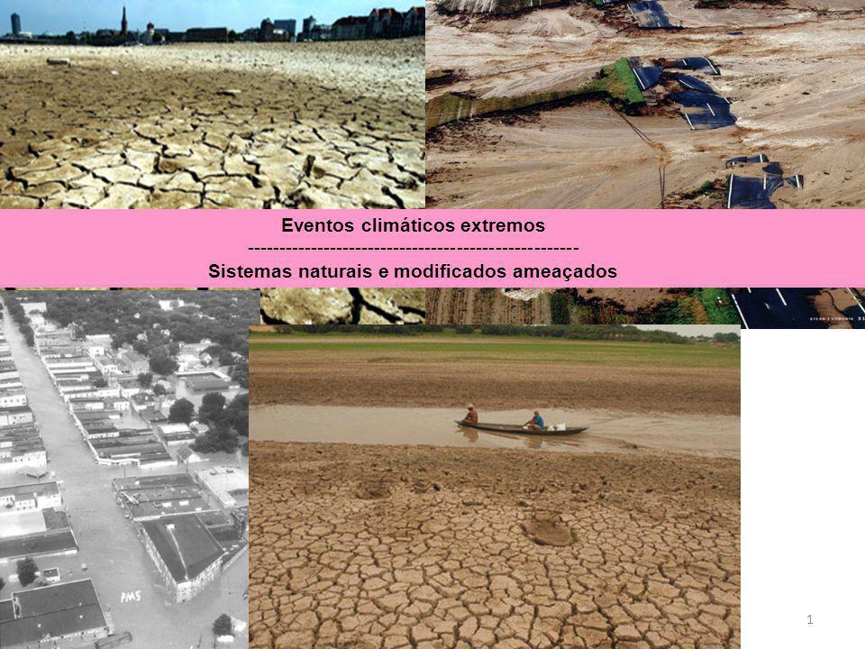 1 Eventos climáticos extremos ---------------------------------------------------- Sistemas naturais e modificados ameaçados