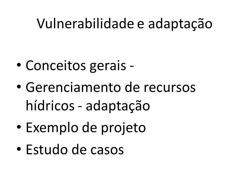 Cenário atual: Brasil é vulnerável e será profundamente impactado pela mudança climática projetada no futuro.