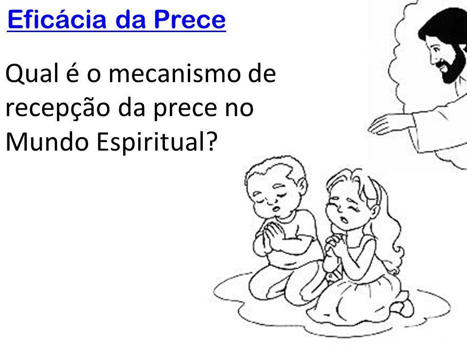 Qual é o mecanismo de recepção da prece no Mundo Espiritual?