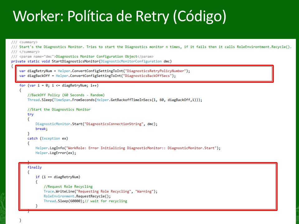 11 Worker: Política de Retry (Código)