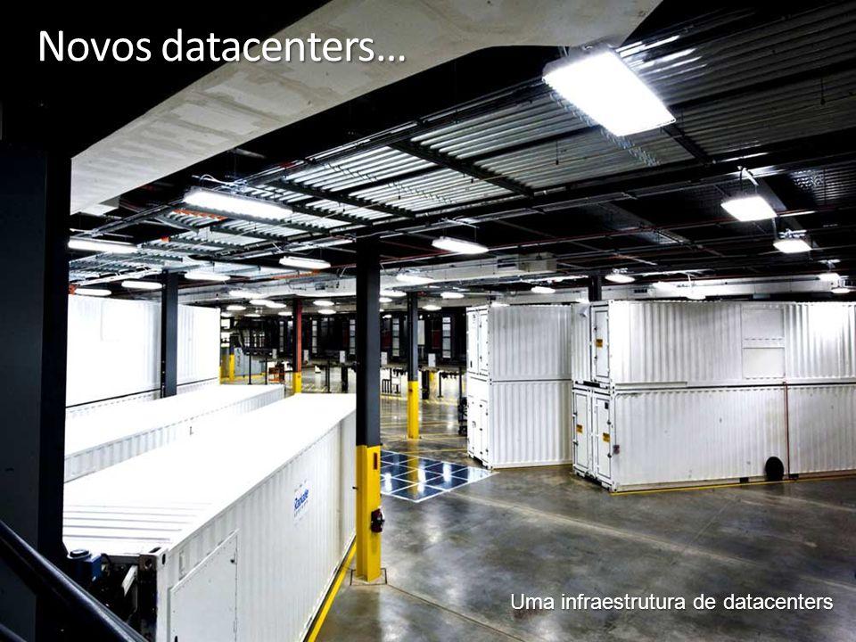 5 Novos datacenters… Uma infraestrutura de datacenters
