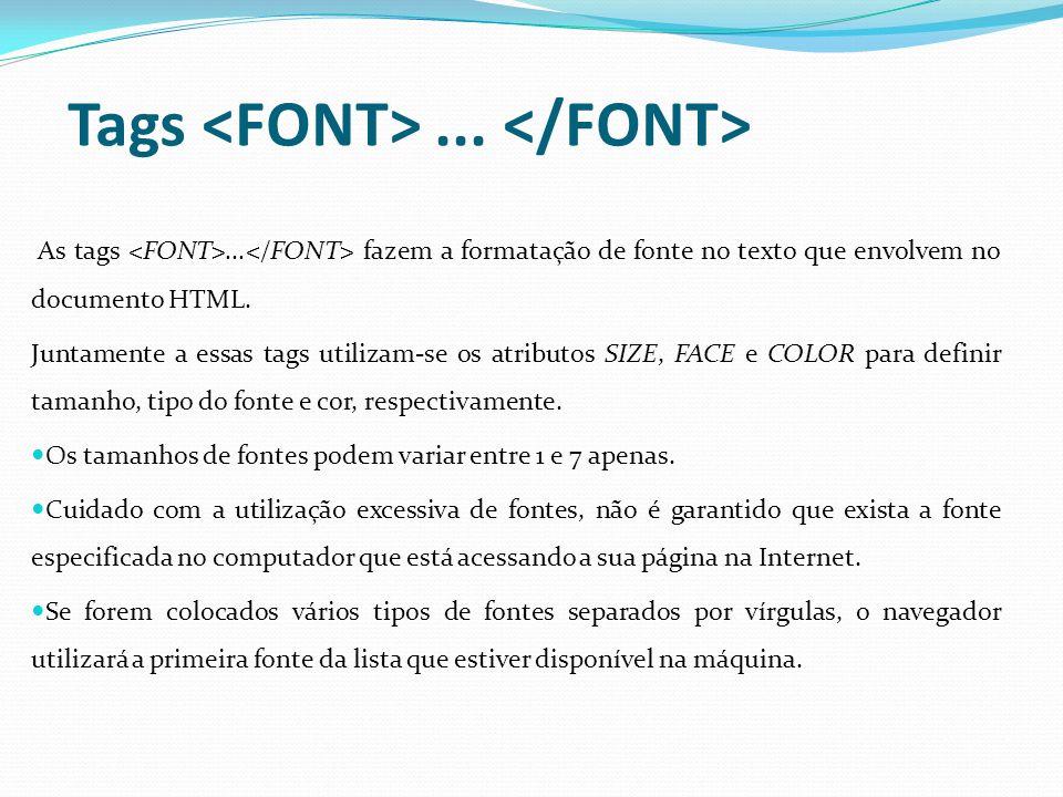 Tags... As tags... fazem a formatação de fonte no texto que envolvem no documento HTML.