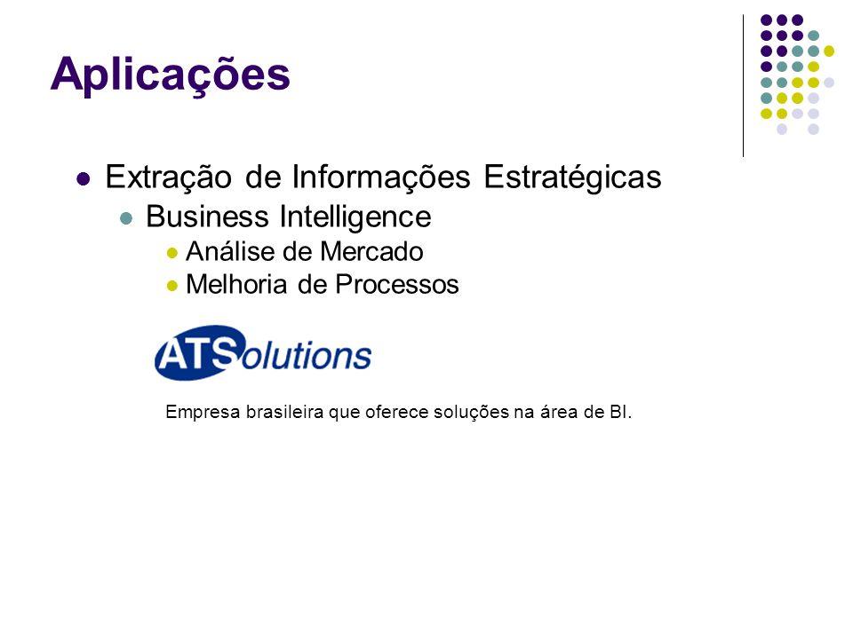 Extração de Informações Estratégicas Business Intelligence Análise de Mercado Melhoria de Processos Empresa brasileira que oferece soluções na área de BI.