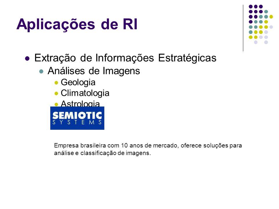 Extração de Informações Estratégicas Análises de Imagens Geologia Climatologia Astrologia Empresa brasileira com 10 anos de mercado, oferece soluções para análise e classificação de imagens.