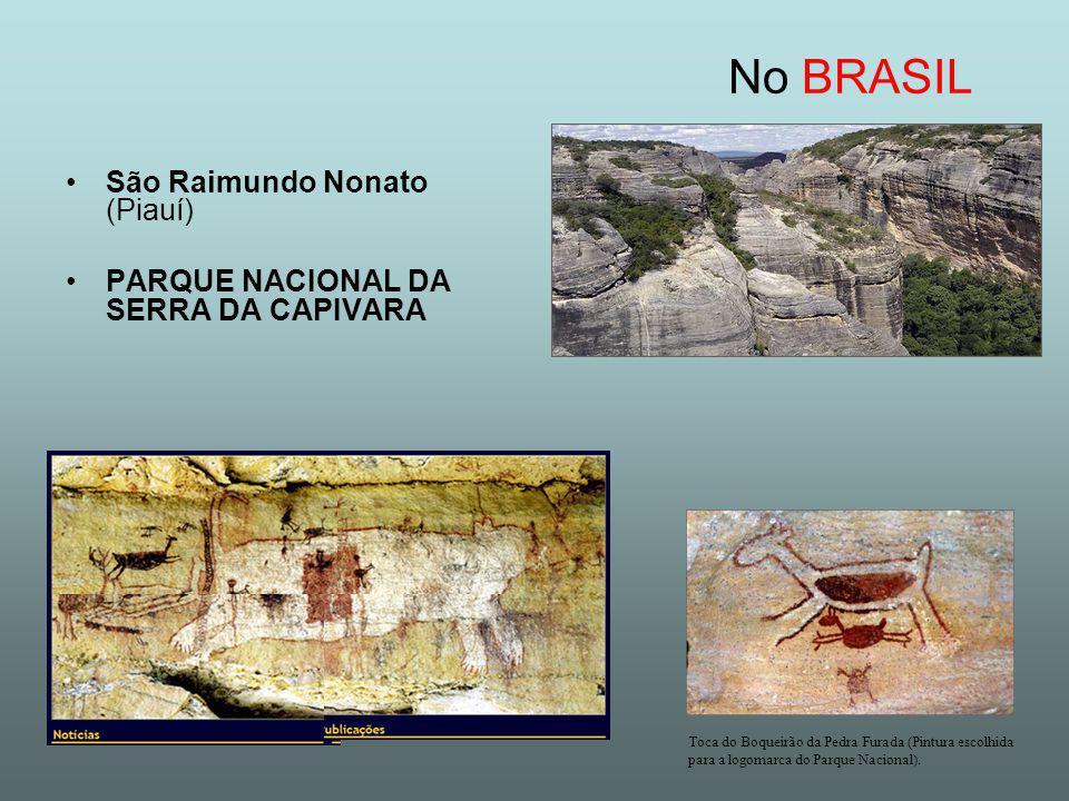 São Raimundo Nonato (Piauí) PARQUE NACIONAL DA SERRA DA CAPIVARA No BRASIL Toca do Boqueirão da Pedra Furada (Pintura escolhida para a logomarca do Parque Nacional).